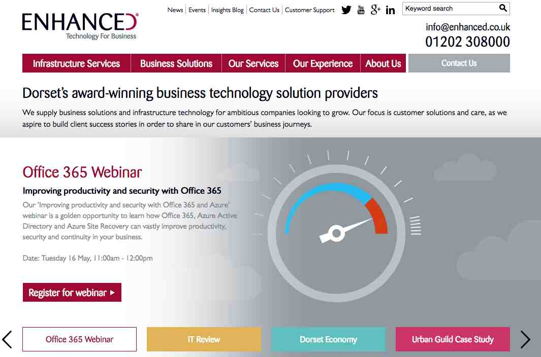 Justin Levine TheNonExec has worked with Dorset's award winning business technology provider Enhanced