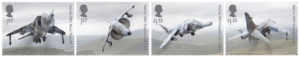 The Harrier Jump Jet stamp set