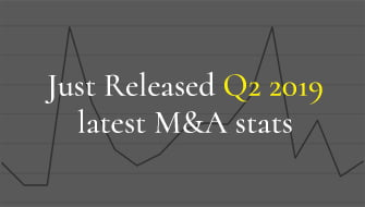 Just released Latest M&A Stats for Q2 2019
