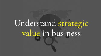 Understanding a business for strategic value
