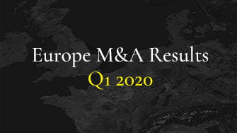 Europe M&A Results Q1 2020